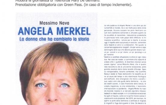 """Evento del 5 ottobre: presentazione del libro """"Angela Merkel"""" la donna che ha cambiato la storia"""""""